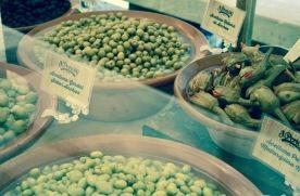Oliven-Spezialitäten.